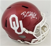 "Baker Mayfield ""HT 17"" Signed Full Size Replica Oklahoma Sooners Speed Helmet (JSA Witness COA)"
