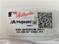 Jacob deGrom 2017 Game Used Authentic Majestic Mets Home Pants (MLB Certified)
