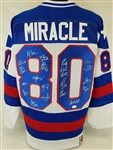 "1980 USA Hockey Team Signed ""Miracle"" Jersey w/ 20 Signatures (JSA LOA)"