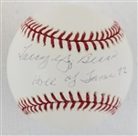 "Larry Yogi Berra ""Hall of Fame 72"" Full Name Signed OML Baseball (JSA LOA)"