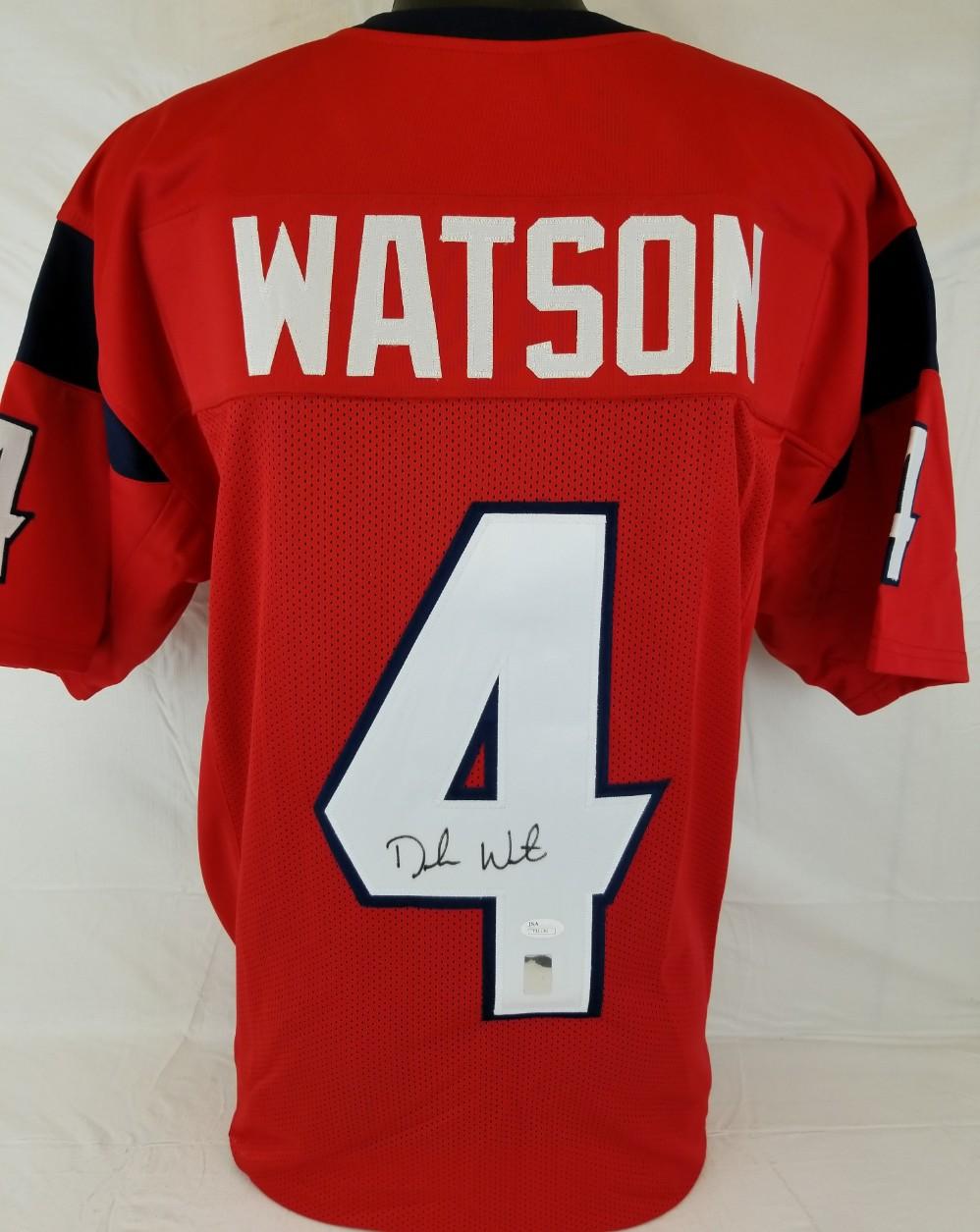 ee3ae4665 Lot Detail - Deshaun Watson Signed Houston Texans Custom Jersey (JSA ...