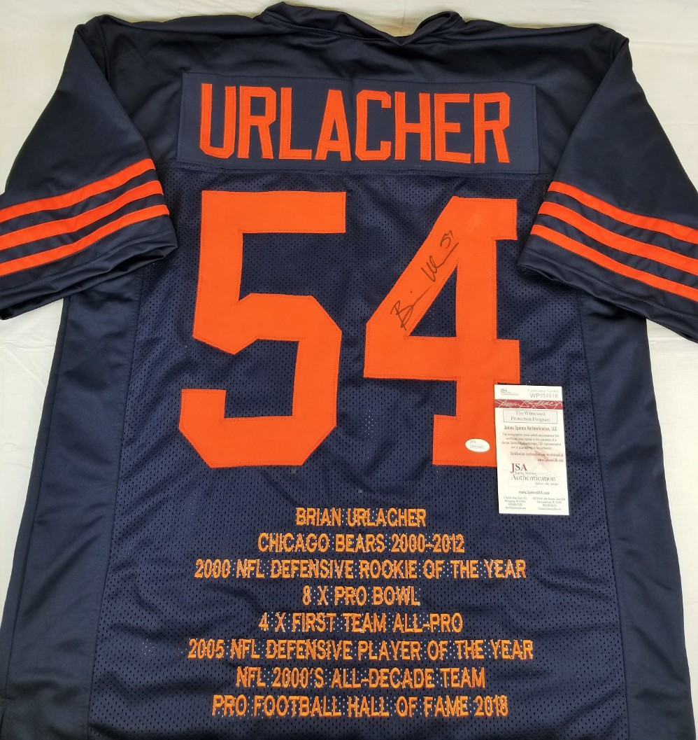 f559748b312 Brian Urlacher Signed Chicago Bears Custom Stat Jersey (JSA Witness COA).  Hover to zoom. Prev Next