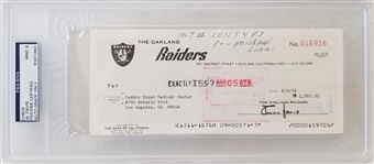 Al Davis Signed 1978 Oakland Raiders Business Bank Check w/ Graded Mint 9 Autograph (PSA/DNA)