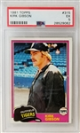 Kirk Gibson 1981 Topps #315 Rookie Card Graded EX 5.0 (PSA/DNA)