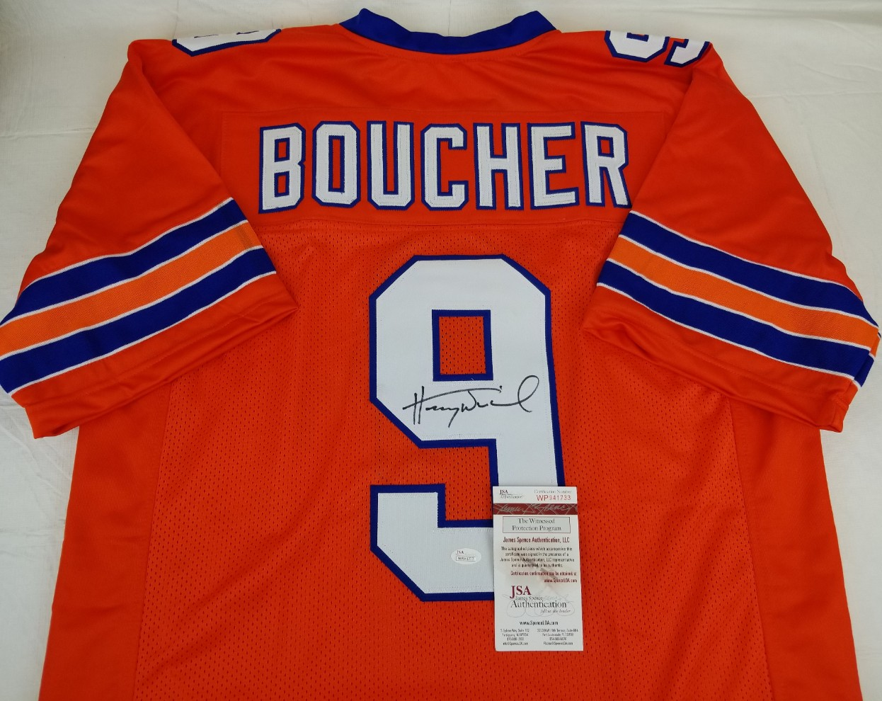 bc5e39cd9 Henry Winkler Signed Bobby Boucher Waterboy Mud Dogs Custom Jersey (JSA  Witness COA). Hover to zoom. Prev Next