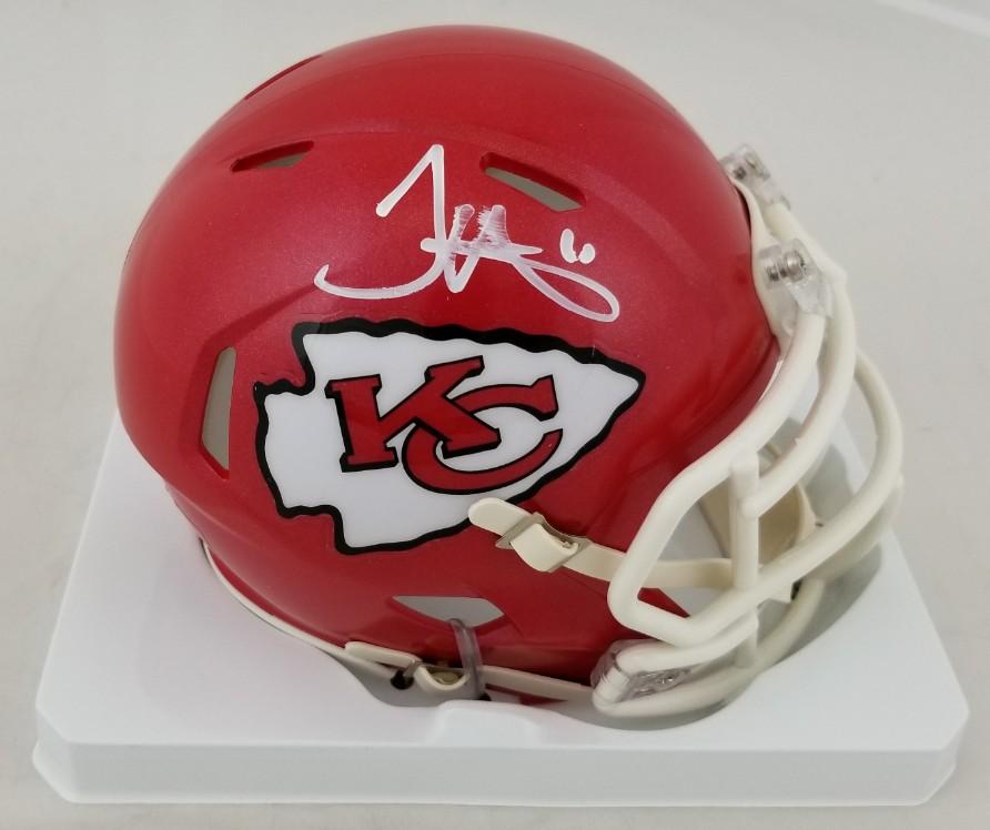 98179403 Lot Detail - Tyreek Hill Signed Kansas City Chiefs Speed Mini Helmet ...