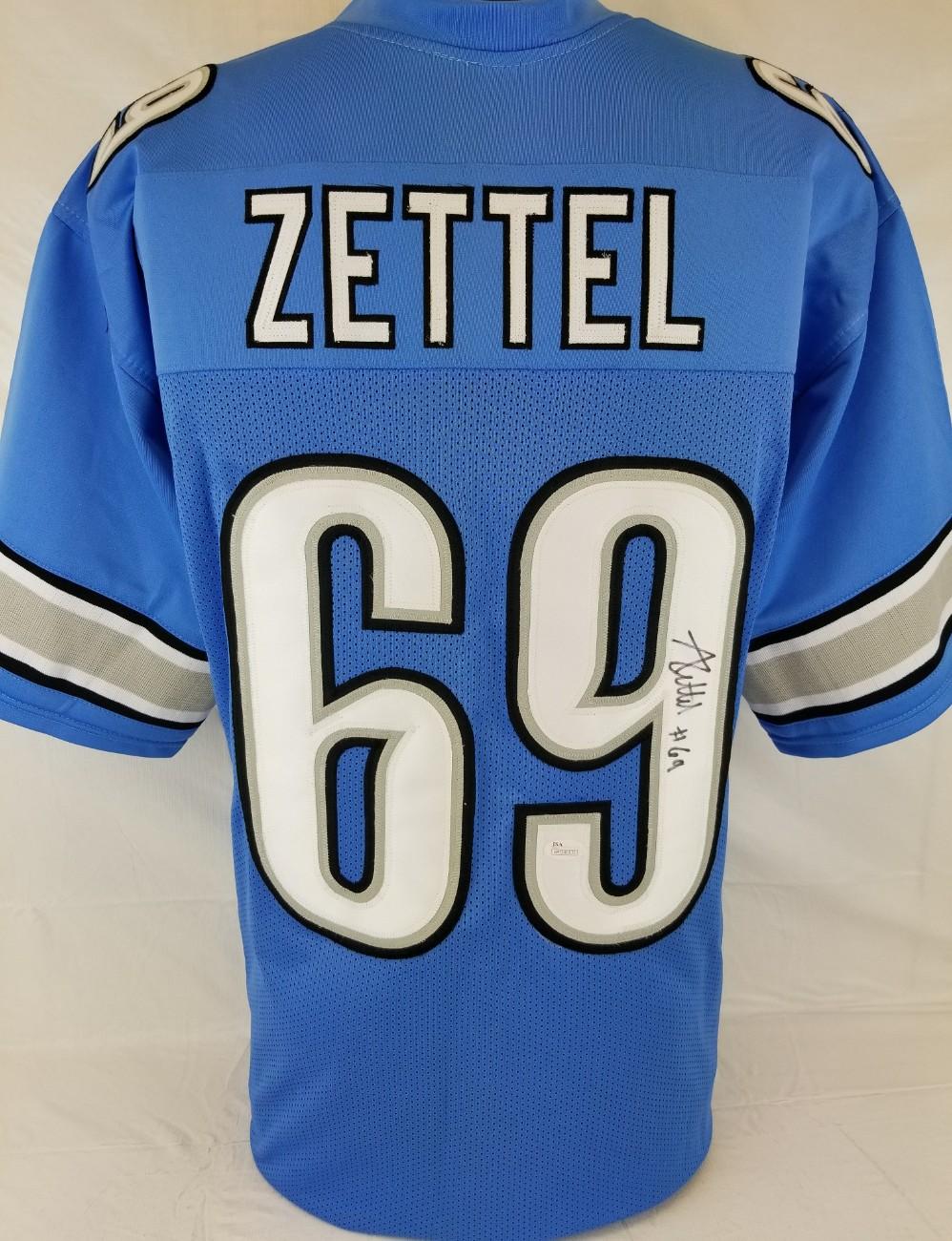Lot Detail - Anthony Zettel Signed Detroit Lions Custom Jersey ...