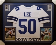 Sean Lee Signed Dallas Cowboys Custom Jersey Framed Display (JSA Witness COA)