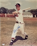 Eddie Mathews Signed Milwaukee Braves 16x20 Photo (JSA COA)