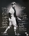 1978 New York Yankees Signed 16x20 Thurman Munson Photo w/20 Signatures (JSA LOA)