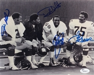 Steel Curtain (Greene, Holmes, Greenwood & White) Signed Steelers 8x10 Photo (JSA COA)