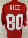 Jerry Rice Signed San Francisco 49ers Custom Jersey (Beckett Witness COA)