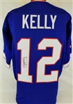 Jim Kelly Signed Buffalo Bills Custom Jersey (JSA Witness COA)