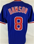 Andre Dawson Signed Chicago Cubs Custom Blue Jersey (JSA Witness COA)