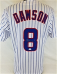Andre Dawson Signed Chicago Cubs Custom White Jersey (JSA Witness COA)
