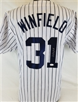 Dave Winfield Signed New York Yankees Custom Jersey (JSA Witness COA)