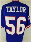 Lawrence Taylor Signed New York Giants Custom Jersey (JSA Witness COA)