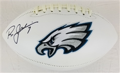Ron Jaworski Signed Philadelphia Eagles Logo Football (JSA Witness COA)
