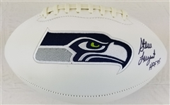 "Steve Largent ""HOF 95"" Signed Seattle Seahawks Logo Football (JSA Witness COA)"