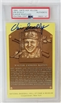Vin Scully Signed Hall of Fame Walter Alston Plaque Postcard (PSA/DNA)