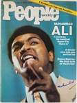 Muhammad Ali Signed 1975 People Magazine (JSA LOA)