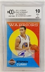 Stephen Curry Signed 2011-12 Panini #114 Past & Present w/Gem Mint 10 Autograph! (BCCG)
