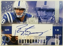 Peyton Manning Signed Colts Upper Deck 2003 Finite Autographs Lmt Ed Card