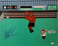 Mike Tyson Signed Nintendo Punch-Out 16x20 Boxing Photo (JSA Witness COA)