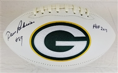"Dave Robinson ""HOF 2013"" Signed Packers Logo Football (JSA COA)"