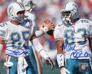 "Mark ""Super"" Duper & Mark Clayton Signed Miami Dolphins 8x10 Photo (JSA Witness COA)"
