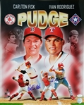 "Carlton Fisk & Ivan Rodriguez Signed ""Pudge"" 16x20 Photo (JSA COA)"