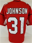 David Johnson Signed Arizona Cardinals Custom Jersey (JSA Witness COA)