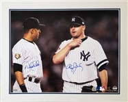 Derek Jeter & Roger Clemens Signed Yankees 16x20 Matted Photo (Steiner & MLB)