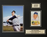 Ted Williams Signed Perez Steele Card 14x18 Matted Display (JSA LOA)