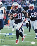James White Signed New England Patriots 8x10 Photo (JSA COA)