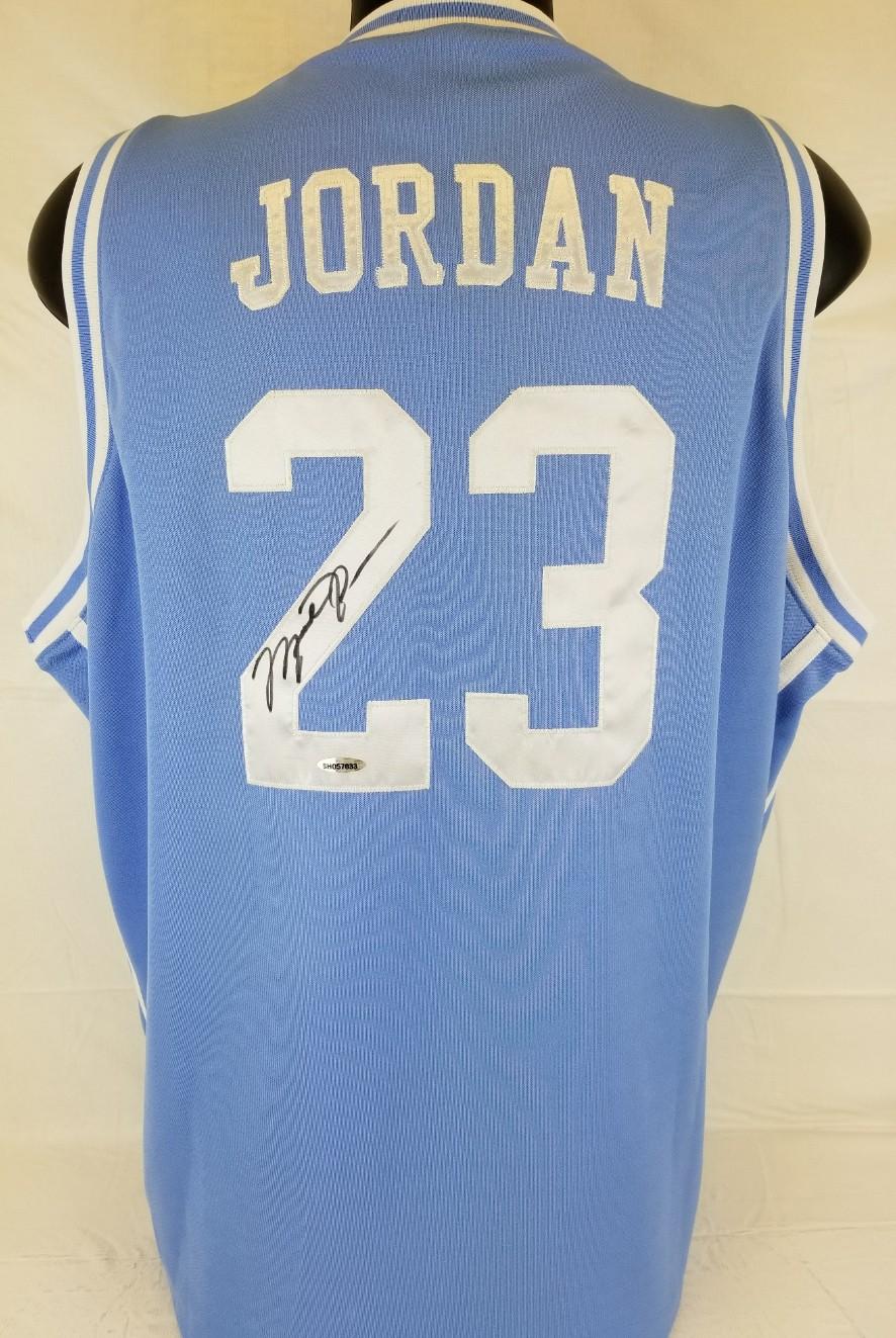 3f011113650 Michael Jordan Signed North Carolina Nike Elite Official Licensed Jersey ( UDA COA)