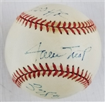 "Willie Mays ""660 HR & 3283 Hits"" Signed ONL Baseball (JSA LOA)"
