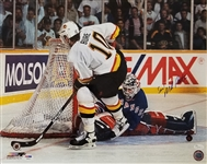 "Mike Richter ""Save!"" Signed Rangers 1994 Stanley Cup 16x20 Photo (JSA & PSA COAs)"