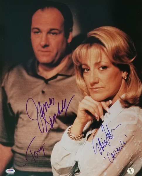 "James Gandolfini ""Tony"" & Edie Falco ""Carmela"" Signed Sopranos 16x20 Photo (PSA/DNA LOA)"