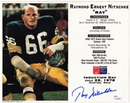 Ray Nitschke Signed Packers 1978 HOF Induction 8x10 Photo (JSA COA)