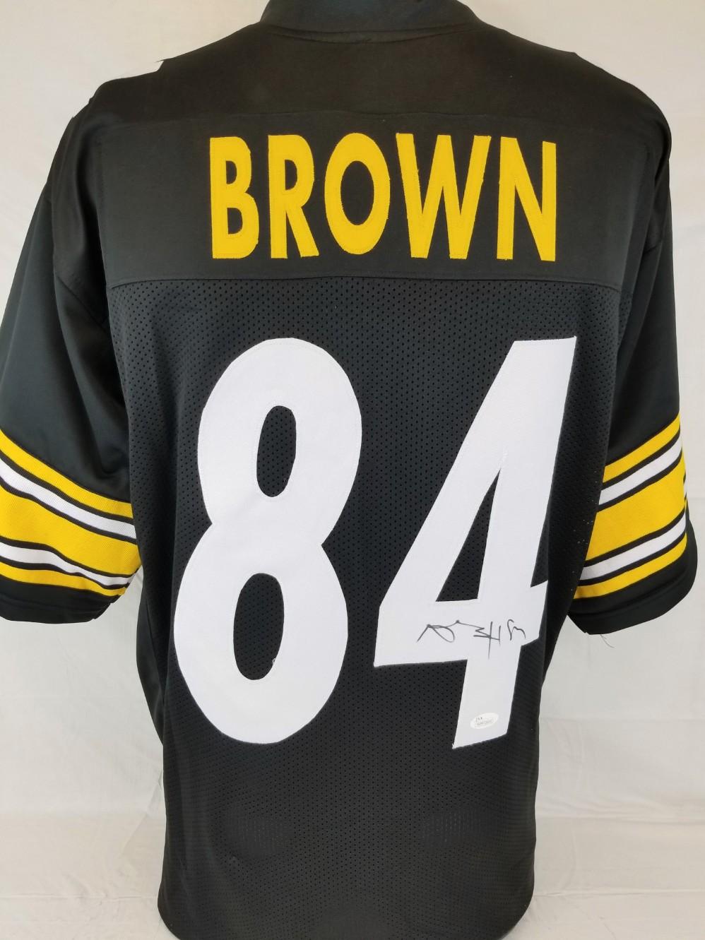 5227831d3 Antonio Brown Signed Pittsburgh Steelers Custom Jersey (JSA Witness COA)