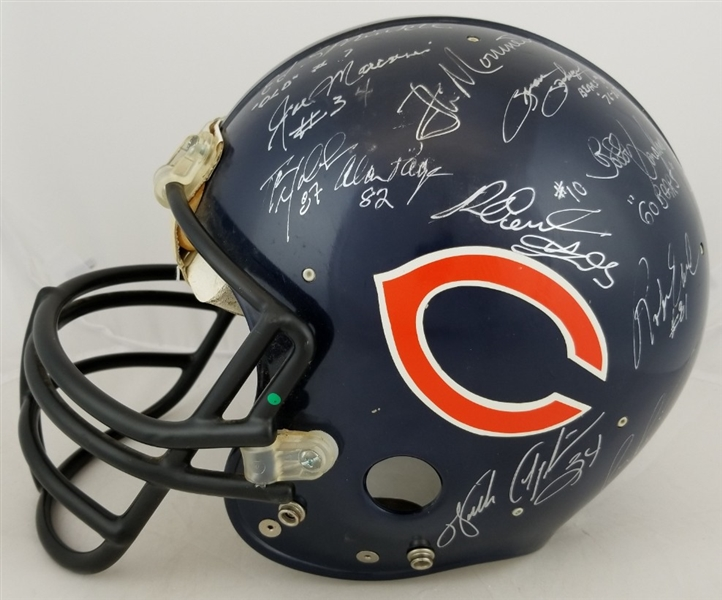 Bears Greats Signed Full Size Authentic Helmet - 25 Signatures w/ Walter Payton, Butkus & Sayers (JSA LOA)
