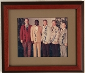 HOF Class of 1974 Signed 13x16 Framed Photo Display - 5 Signatures w/ Mantle & Ford (JSA LOA)