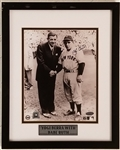 Yogi Berra Signed 8x10 Photo Framed Display w/ Babe Ruth (Steiner & MLB)