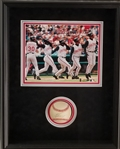 Ken Griffey Jr. Signed Baseball w/ 400th Home Run Photo Framed Display (JSA COA)