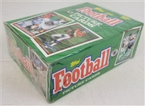 1991 Topps Football Factory Sealed Box w/ 36 Wax Packs