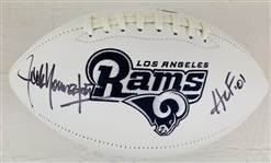 "Jack Youngblood ""HOF 01"" Signed Los Angeles Rams Logo Football (JSA COA)"