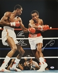 Thomas Hearns & Sugar Ray Leonard Signed 16x20 Photo (PSA/DNA ITP COA)