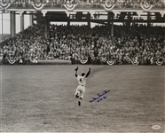 "Duke Snider ""HOF 80"" Signed Brooklyn Dodgers 16x20 Photo (JSA Witness COA)"