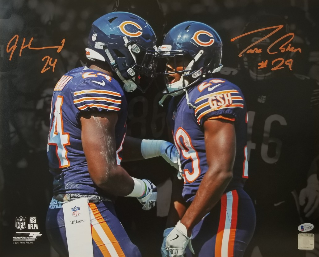 84bc285d5 ... Tarik Cohen Signed Chicago Bears 16x20 Photo (Beckett Witness COA).  Hover to zoom